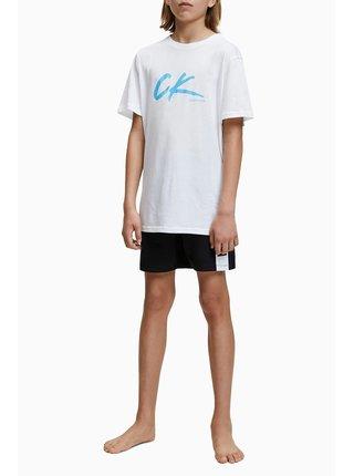 Calvin Klein bílé chlapecké tričko Tee