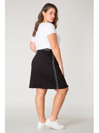 Yesta černá džínsová dámská sukně ke kolenům Golddy