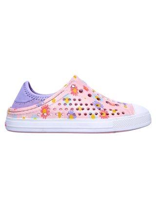Růžové holčičí tenisky Skechers Guzman Steps