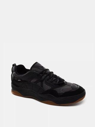 Čierne dámske tenisky s koženými detailmi VANS