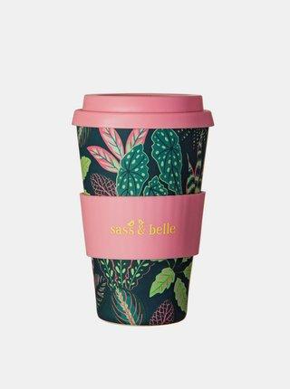 Čierno-ružový cestovný hrnček Sass & Belle 435ml