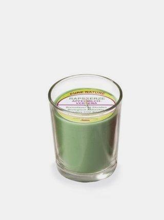 Svíčka ve skle zelená - jablko a verbena 65 g Stuwa