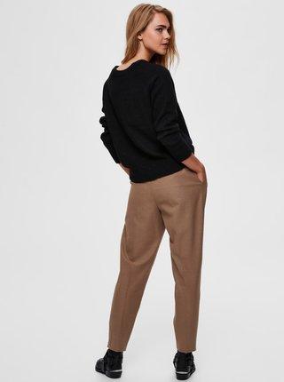 Čierny vlnený sveter Selected Femme Lulu