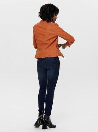 Oranžový koženkový křivák ONLY Ava