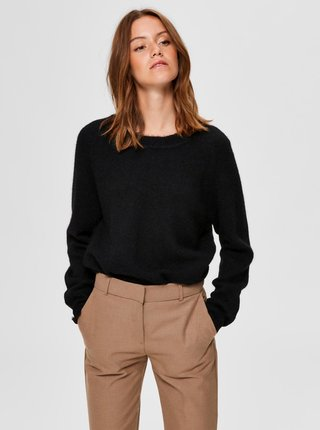 Černý vlněný svetr Selected Femme Lulu