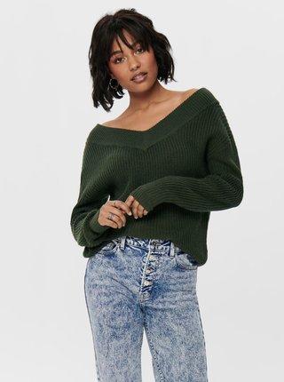 Zelený svetr ONLY Melton