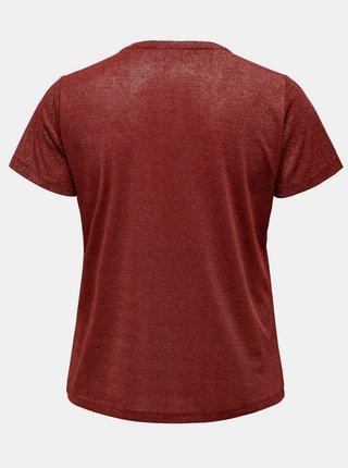 Hnedé basic tričko ONLY CARMAKOMA Rex