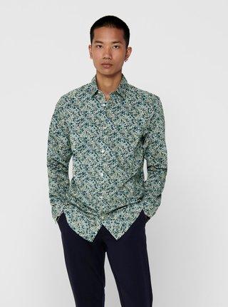 Zelená vzorovaná košeľa ONLY & SONS Sander