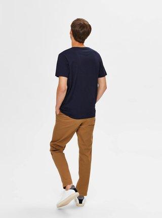 Tmavomodré tričko Selected Homme Park