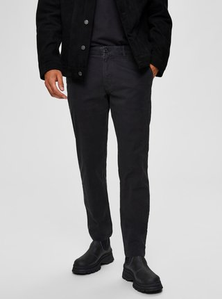 Čierne chino nohavice Selected Homme New Paris