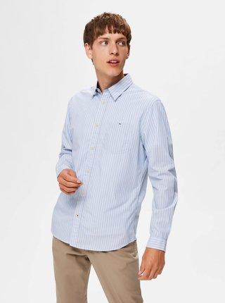 Svetlomodrá slim fit košeľa Selected Homme Tyler
