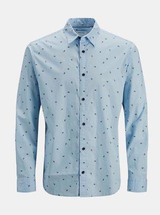 Svetlomodrá vzorovaná košeľa Jack & Jones Madison