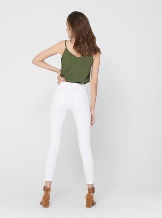 Bílé skinny džíny ONLY Carmen