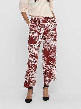 Cihlové vzorované kalhoty ONLY Augustina