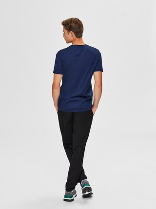 Tmavomodré tričko Selected Homme New Poe