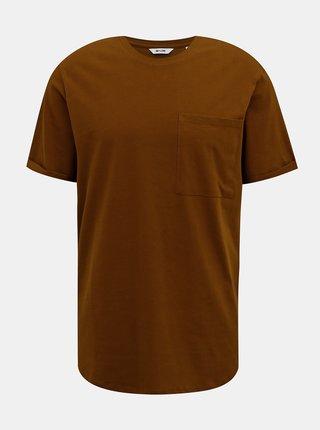 Hnědé tričko ONLY & SONS Gavin