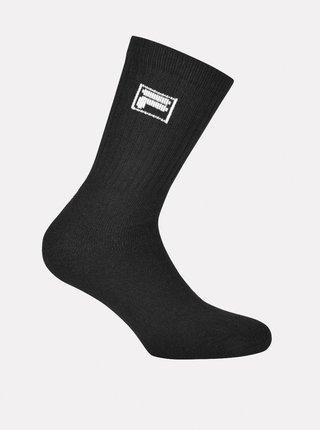 Sada tří párů pánských černých ponožek FILA
