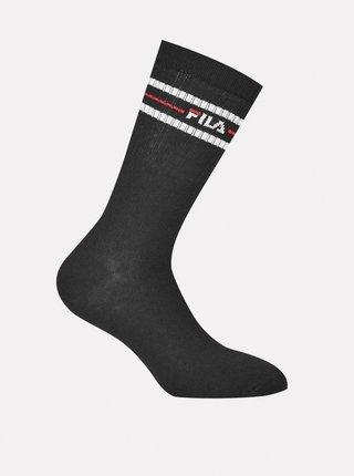 Sada troch párov ponožiek v čiernej farbe FILA