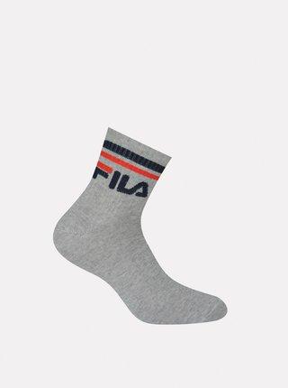 Sada troch párov šedých členkových ponožiek FILA