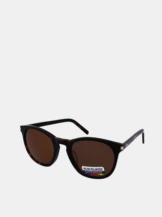Tmavě hnědé sluneční brýle Crullé