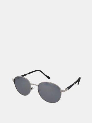 Slnečné okuliare v striebornej farbe Crullé