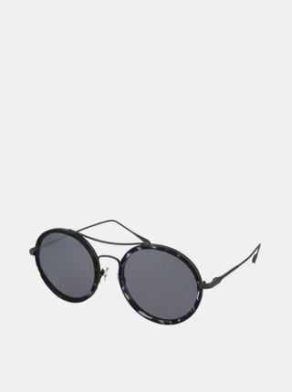 Šedo-čierne vzorované slnečné okuliare Crullé