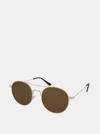 Slnečné okuliare v zlatej farbe Crullé