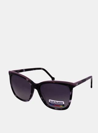 Fialovo-čierne dámske slnečné okuliare Crullé