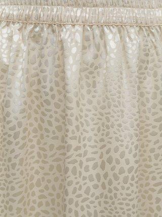 Krémová vzorovaná sukňa Noisy May Seren