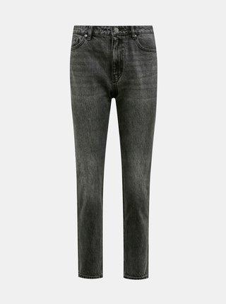 Tmavě šedé mom fit džíny VERO MODA Joana