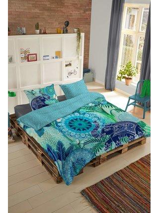 Home farebné obojstranné posteľné obliečky na jednolôžko Hip Isara 140x200cm