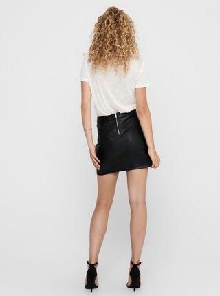 Černá koženková sukně Jacqueline de Yong Theon
