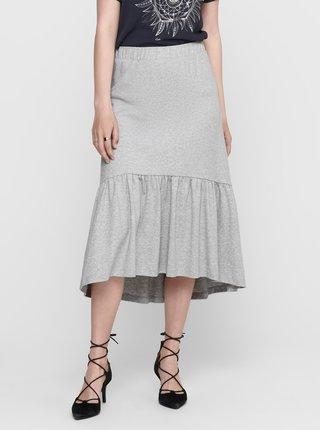 Šedá midi sukně Jacqueline de Yong Relax