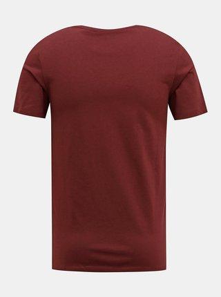 Vínové tričko Jack & Jones Barista