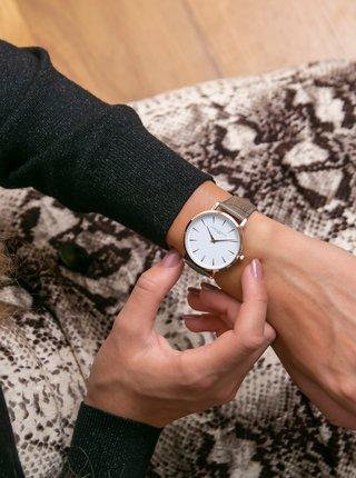 Dámské hodinky s hnědým koženým páskem Annie Rosewood