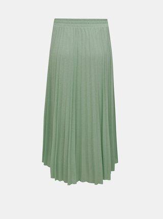 Zelená plisovaná midi sukně ONLY Paradise