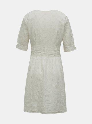 Bílé šaty s madeirou ONLY Oda