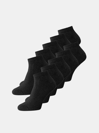 Sada piatich párov čiernych ponožiek Jack & Jones Dongo
