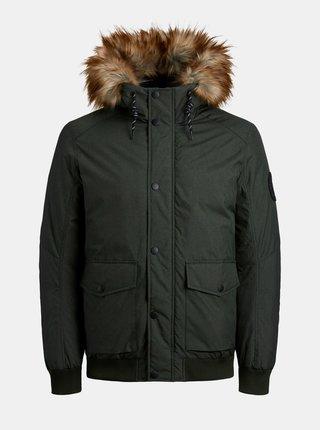 Kaki zimná bunda Jack & Jones Sky
