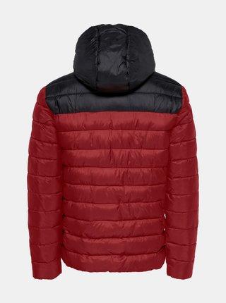 Červená zimná prešívaná bunda ONLY & SONS Steven