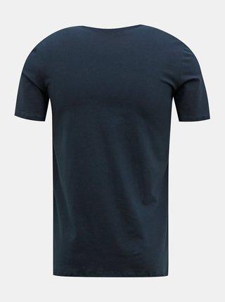 Tmavě modré pánské basic tričko pod košili FILA
