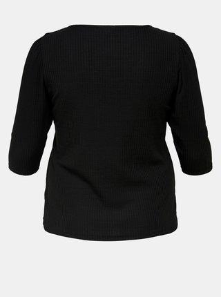 Čierne tričko ONLY CARMAKOMA Clare