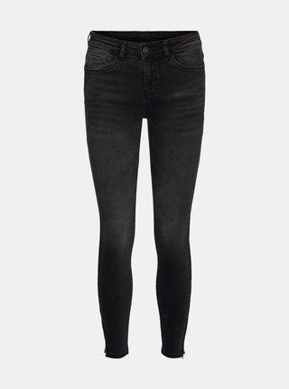 Tmavě šedé skinny fit džíny Noisy May Kimmy