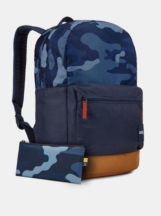 Modrý vzorovaný batoh Case Logic Commence 24 l