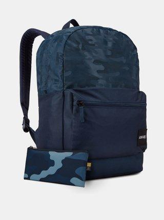 Tmavě modrý vzorovaný batoh Case Logic Founder 26 l