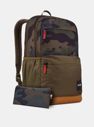 Khaki vzorovaný batoh Case Logic Uplink 26 l