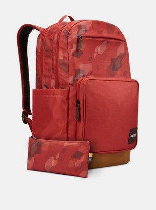 Červený vzorovaný batoh Case Logic Query 29 l
