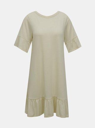 Krémové volné šaty VERO MODA Violetta