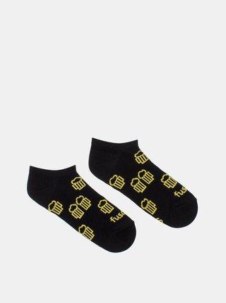 Čierne vzorované členkové ponožky Fusakle Na zdravie