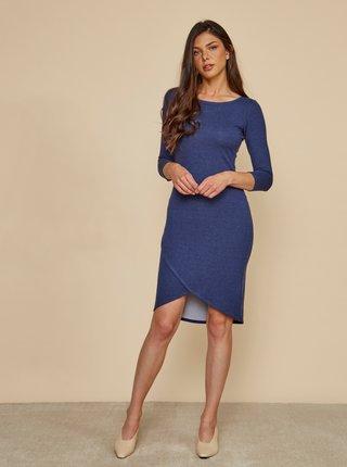Modré púzdrové basic šaty ZOOT Baseline Berit
